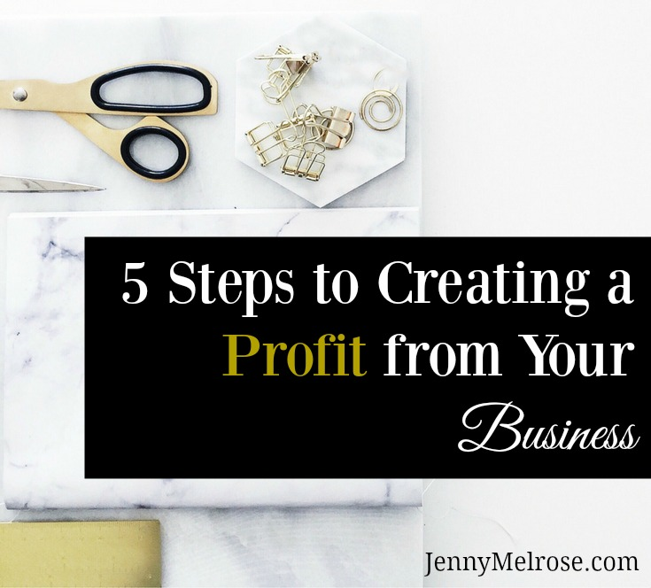 5 Steps to Creating a Profit from your Business