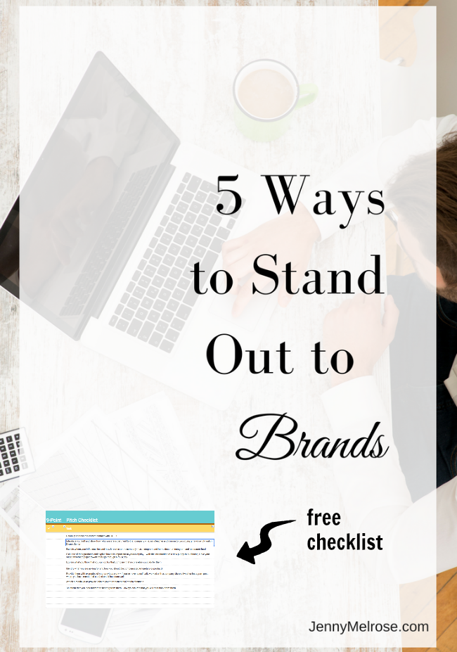 5 Ways to Stand Out to Brands