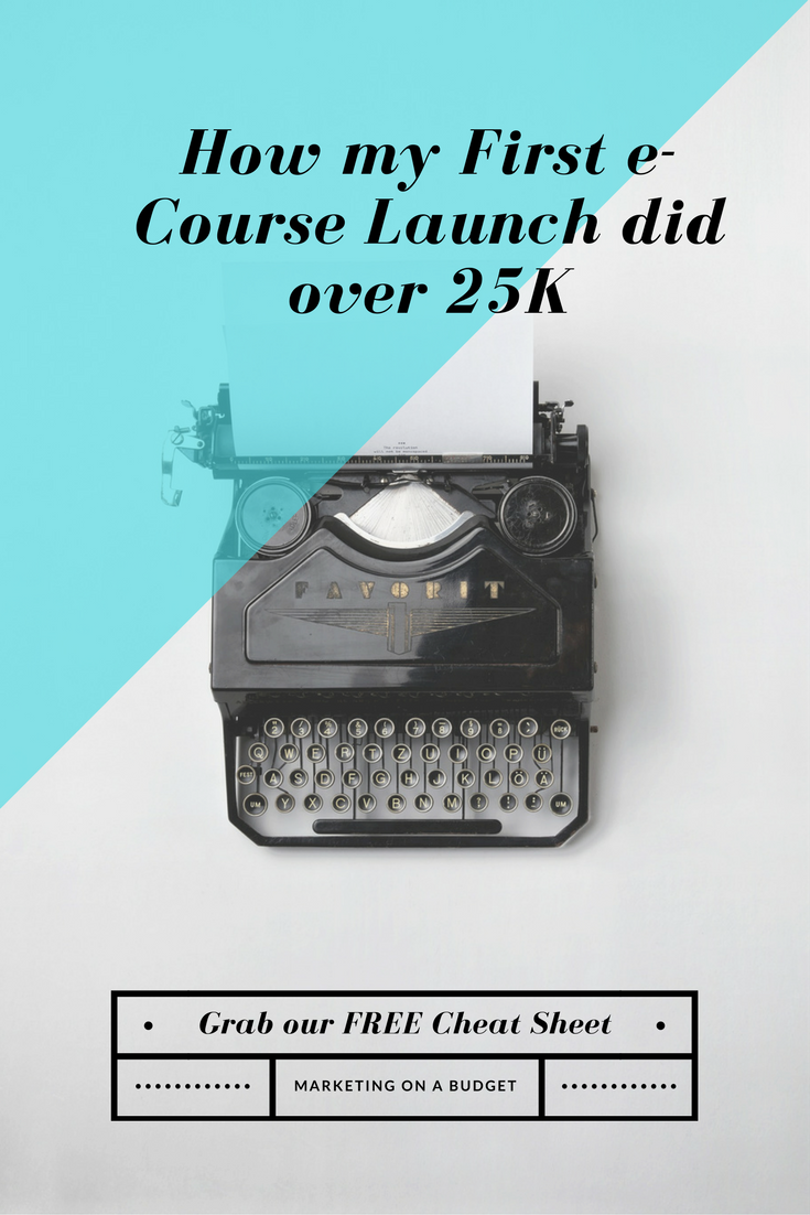 How my first e-Course Launch did over 25k
