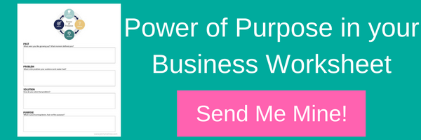 Power of Purpose in your Business Worksheet
