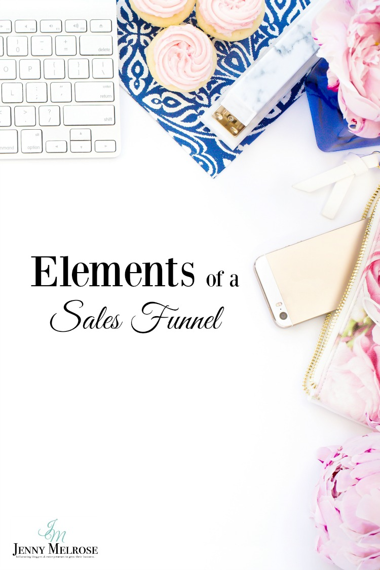 Elements of a Sales Funnel for online businesses.