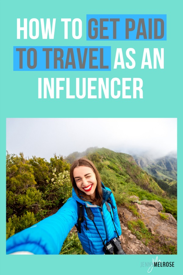 Woman getting paid to travel as an influencer