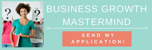 Business Growth Mastermind Group button to send application