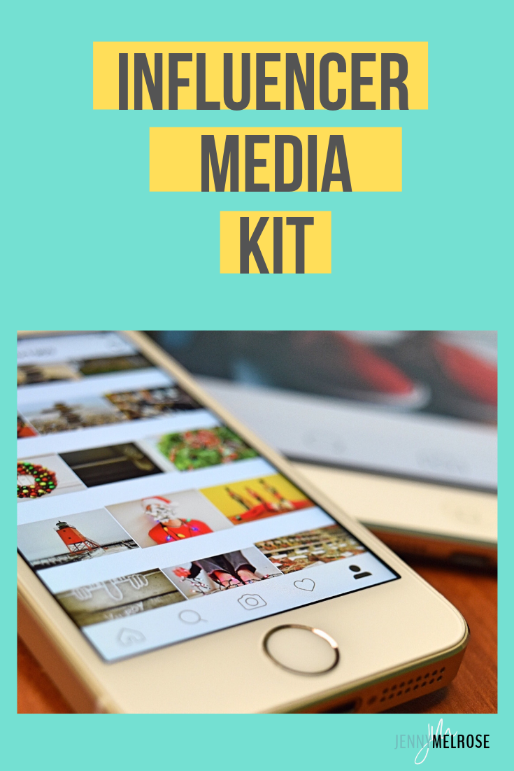 Are you ready to get paid to use your influence? You need to have an influencer media kit as a blogger or influencer #bloggingtips #beginningbloggers