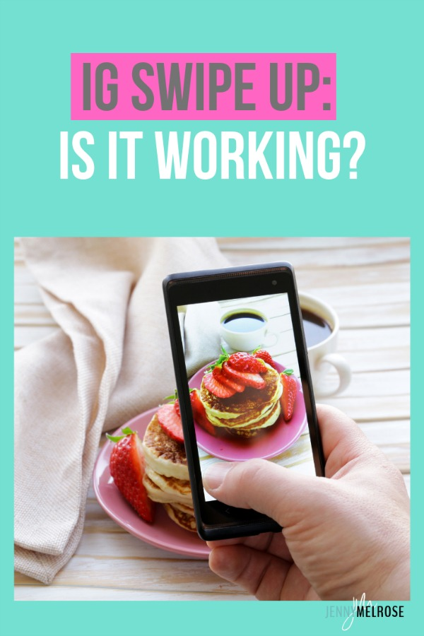 IG Swipe Up: Is it Working? Tips on how to use IG stories without needing swipe up #bloggingtips #instagramtips