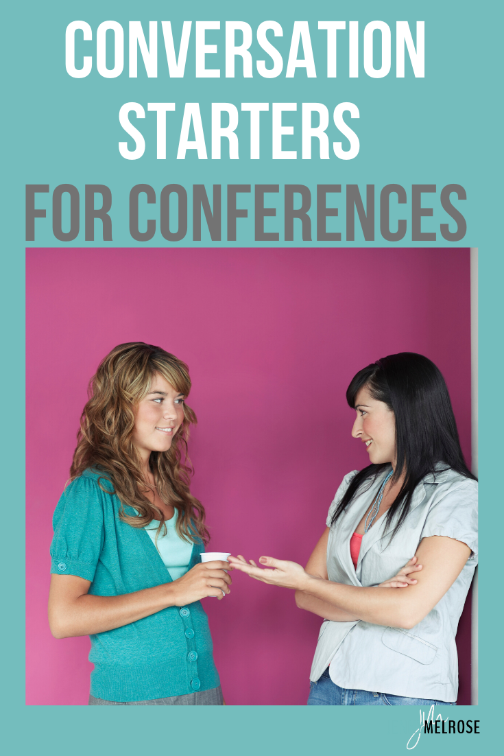 Attending a conference for an introvert can be extremely overwhelming, but if you go in with great conversation starters it makes it much easier. #bloggingtips #entrepreneurs