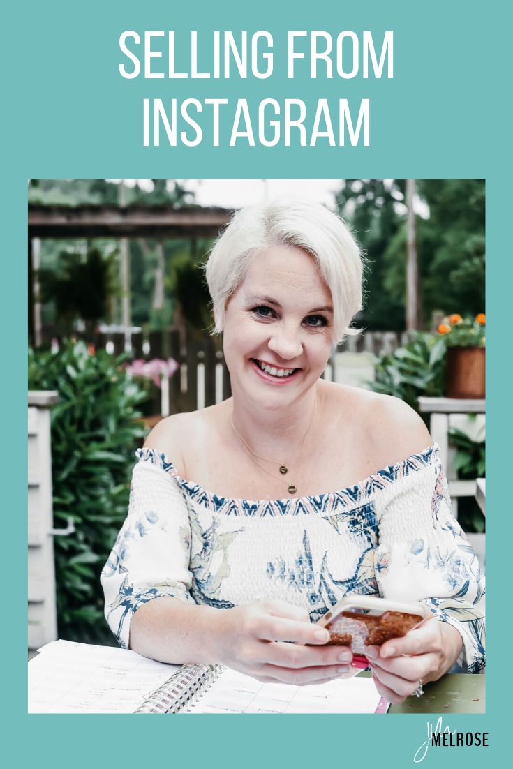 Selling from Instagram is one of the best places to sell to your audience because it's the one platform where you have the unique ability to have a regular conversation with them.
