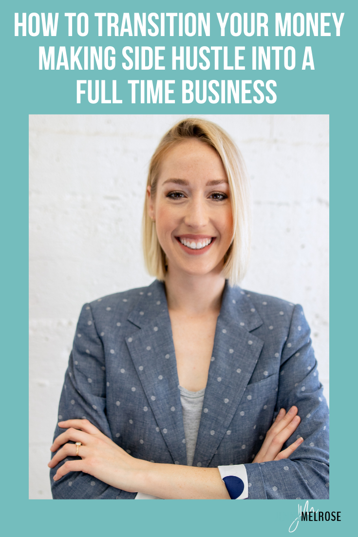 My conversation with Kylie Hodges today will help you transition your money making side hustle into a full time business.