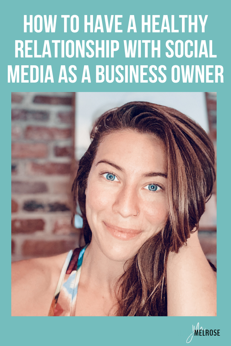 I know that so many of you have been caught up in the trap of comparison and spending too much time mindlessly scrolling which is why we're diving into how to have a healthy relationship with social media as a business owner.